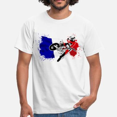 Sx Moto Cross Racing - France Flag - T-shirt Homme