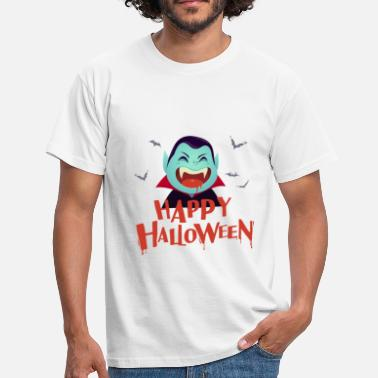 Boe Vampire Scary and Spooky Happy Halloween Graphic - Mannen T-shirt