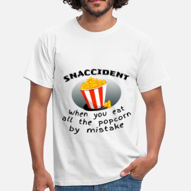 Butter Snaccident Popcorn Mistake Definition - Men's T-Shirt