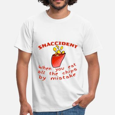Mistake Snaccident Chips Mistake-definitie - Mannen T-shirt