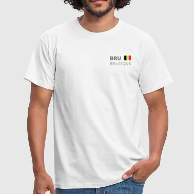 BRU BELGIQUE dark-lettered 400 dpi - Mannen T-shirt
