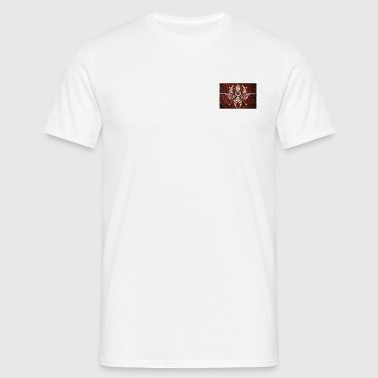 aviator leather emblem - Men's T-Shirt
