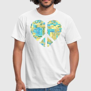 Tribal Peace Love Peace heart - Men's T-Shirt