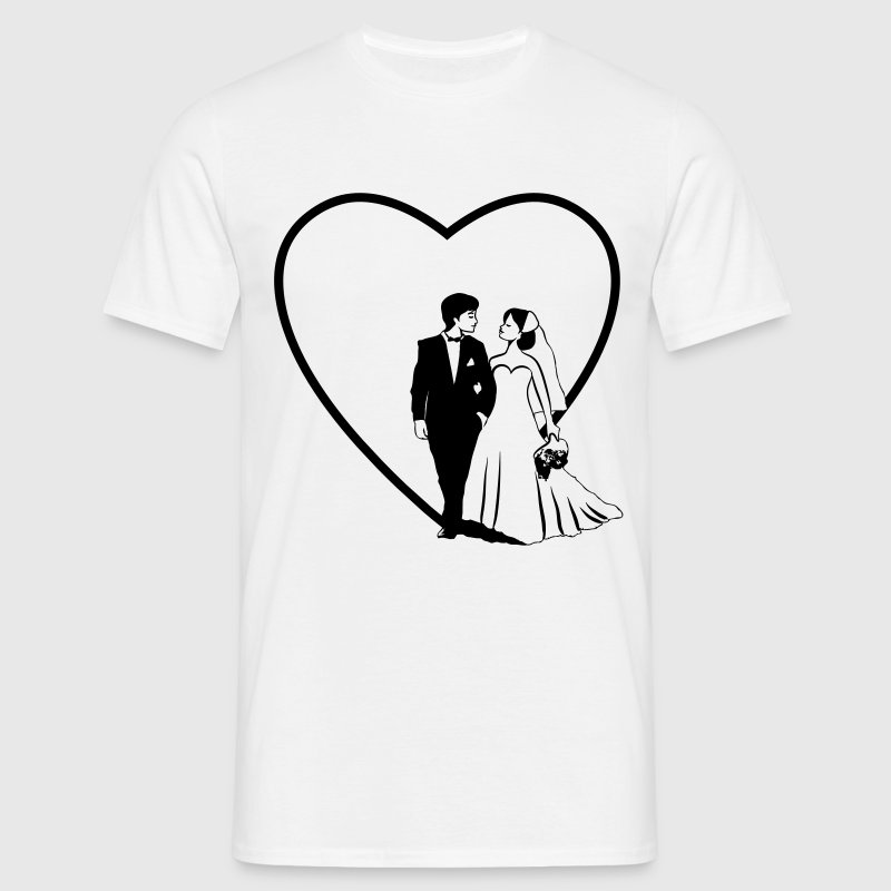 Marriage happy heart love marriage - Men's T-Shirt