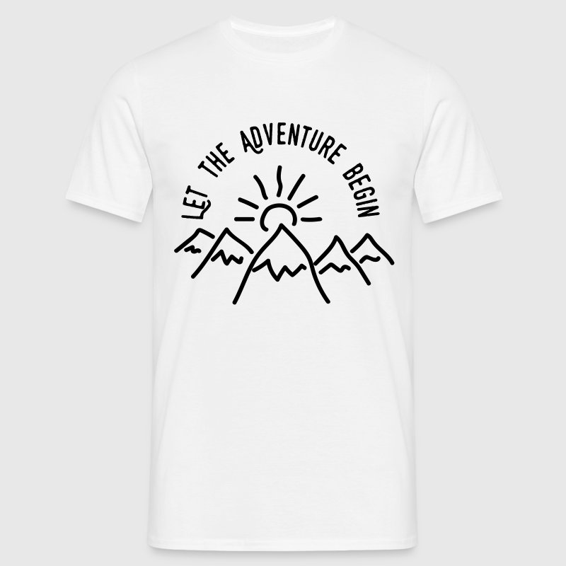 AD Let the Adventure Begin - Men's T-Shirt