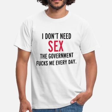 Sex Spreuk Sex - Mannen T-shirt