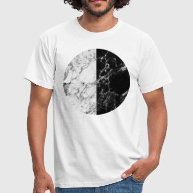 Monochrome AD Monochrome Marble Moon - Men's T-Shirt