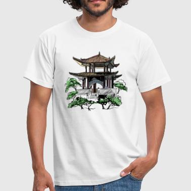 Sakura Pagoda - Men's T-Shirt