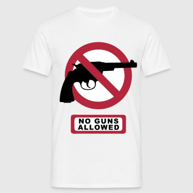 no guns allowed - Männer T-Shirt