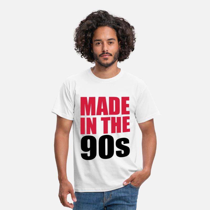 90s T-Shirts - Made In The 90s - Mannen T-shirt wit
