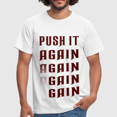 Big Fat Ass Girl Push it again gain red - Men's T-Shirt