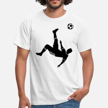 Voetbal Bicycle kick voetbal voetballer   - Mannen T-shirt