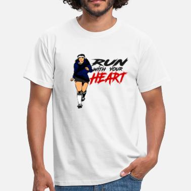 Girl Runner runner - Men's T-Shirt