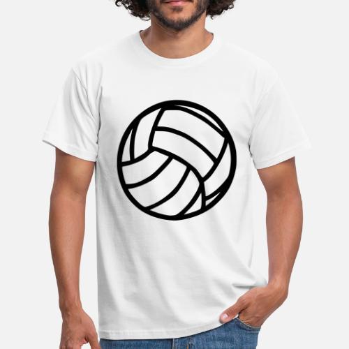 b86461c386e7c Jugador Camisetas - Voleibol - Camiseta hombre blanco. ¿Quieres personalizar  el diseño