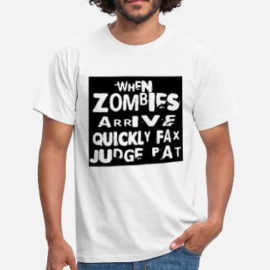 Typografie Witze when zombies arrive_polar_solid - Männer T-Shirt