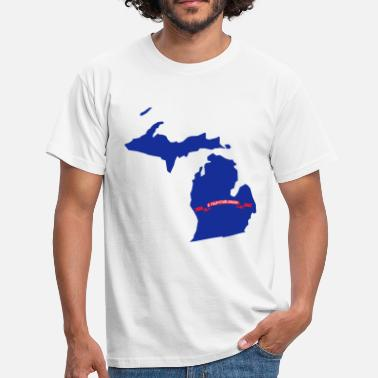 Michigan Michigan - Herre-T-shirt