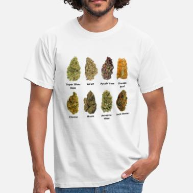 Weed 8 Buds of Mary Jane - Männer T-Shirt