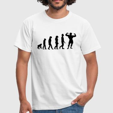 Big Fat Ass Girl Evolution Body Building - Men's T-Shirt