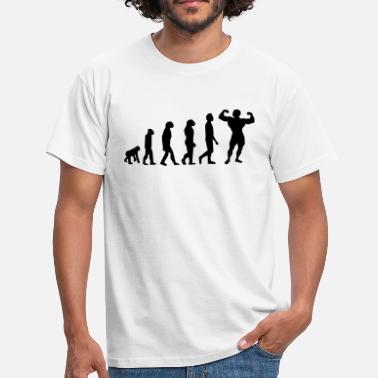 Fuck Body Building Evolution Body Building - Men's T-Shirt