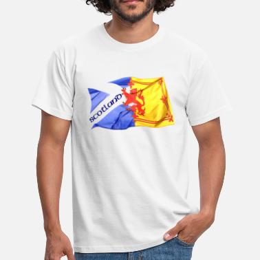 Lion Rampant Designs scotland saltire and lion rampant flag - Men's T-Shirt