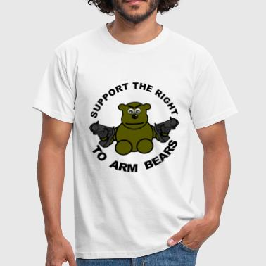 Arm Bears Support The Right To Arm Bears - Men's T-Shirt