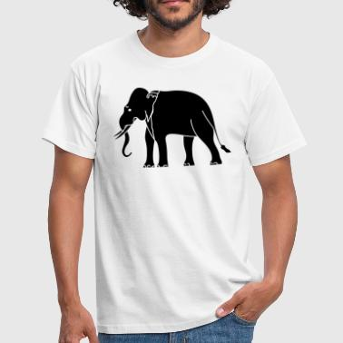Siamese Asian Elephant - Men's T-Shirt