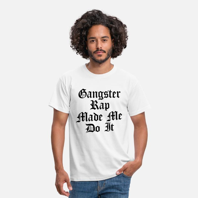 Rap T-shirts - Gangster Rap citation - T-shirt Homme blanc