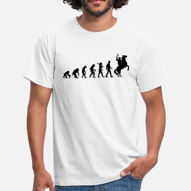 Luke Evolution of Cowboys - Männer T-Shirt