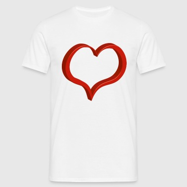 red heart - Men's T-Shirt