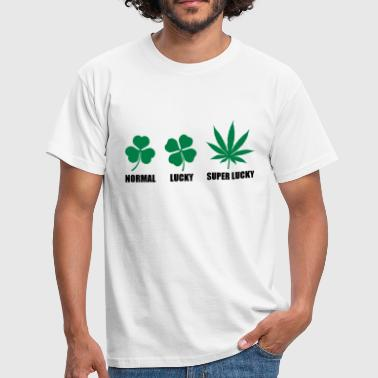 Cannabis Super Lucky - Männer T-Shirt