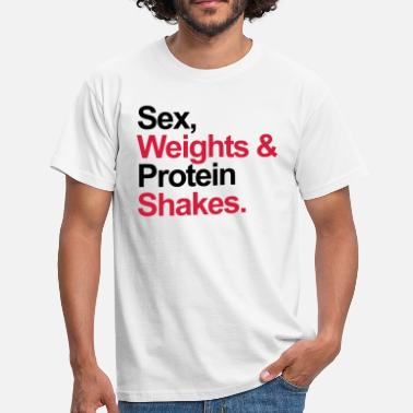 Funny Gym Protein Shakes  - T-shirt Homme