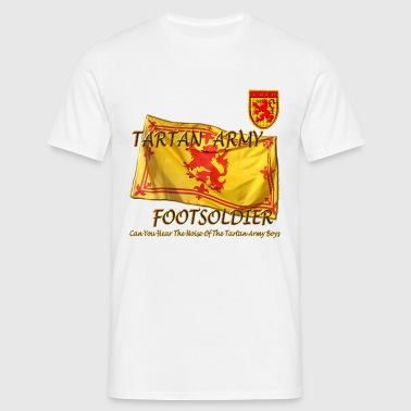Tartan Army Footsoldier Football - Men's T-Shirt