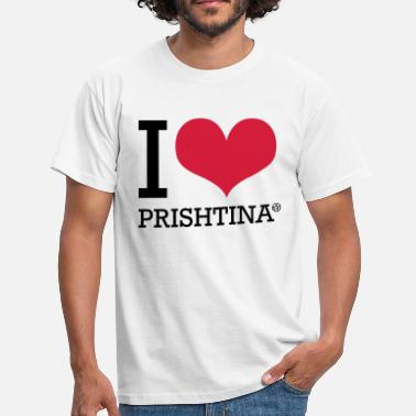 Prishtina I LOVE PRISHTINA - Men's T-Shirt
