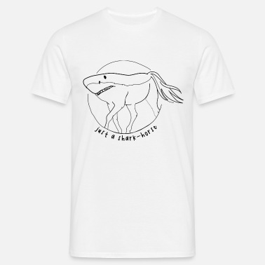 Shark Jokes Shark Horse Shark Horse - Men's T-Shirt