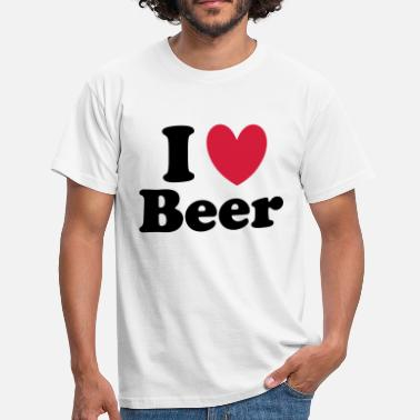 I Love Beer Beer - Mannen T-shirt
