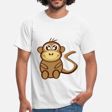 Plot Printing Cartoon monkey - Men's T-Shirt
