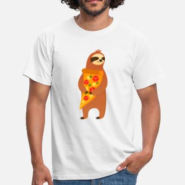 Slice Sloth With Pizza Slice - T-shirt herr
