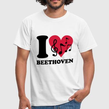 I love Beethoven - Herre-T-shirt