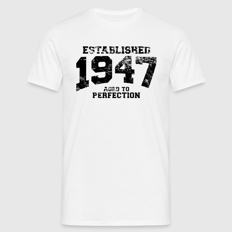 established 1947 - aged to perfection (nl) - Mannen T-shirt