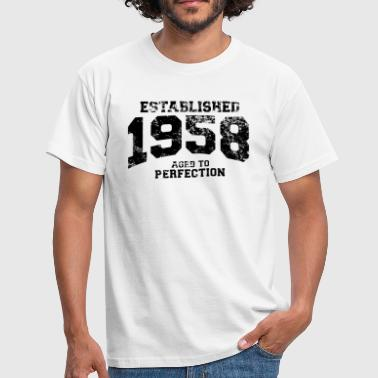 established 1958 - aged to perfection(uk) - Men's T-Shirt