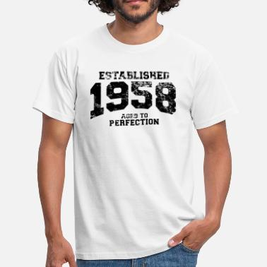 Birth Year established 1958 - aged to perfection(uk) - Men's T-Shirt