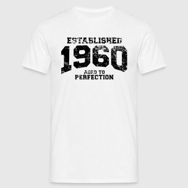 established 1960 - aged to perfection(nl) - Mannen T-shirt