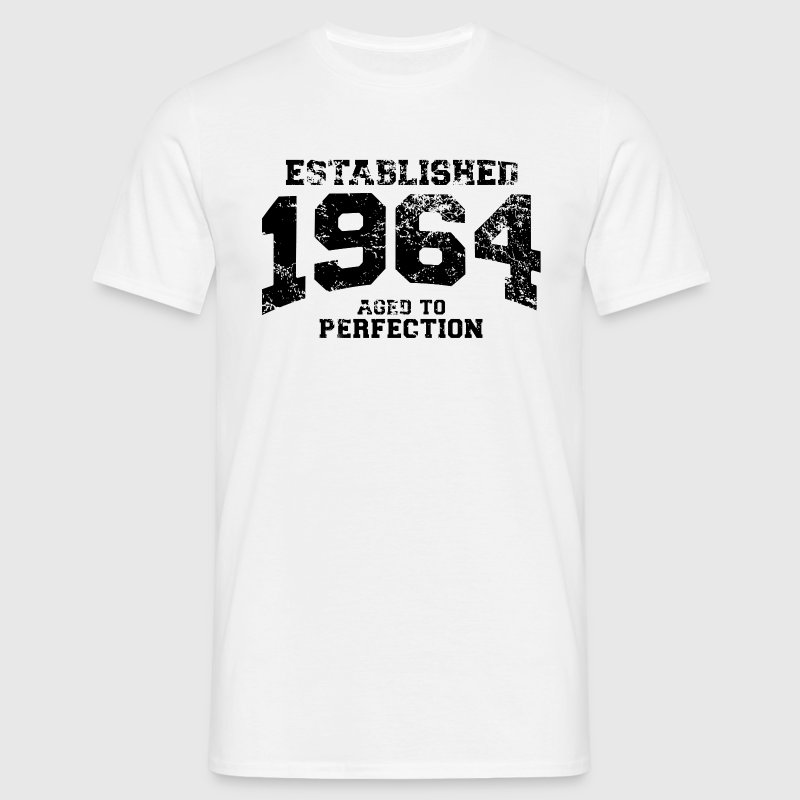 established 1964 - aged to perfection(nl) - Mannen T-shirt