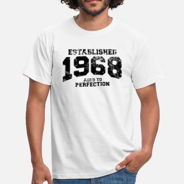 Year established 1968 - aged to perfection(uk) - Men's T-Shirt