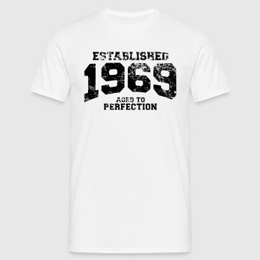 established 1969 - aged to perfection(nl) - Mannen T-shirt