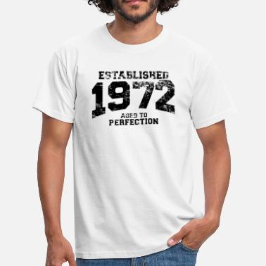 Aged established 1972 - aged to perfection(nl) - Mannen T-shirt
