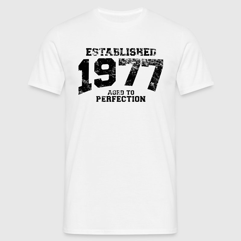 established 1977 - aged to perfection - Männer T-Shirt