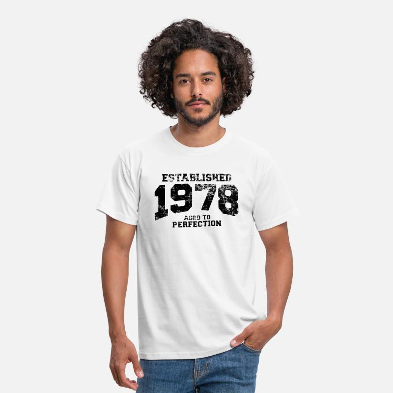 1978 T-Shirts - established 1978 - aged to perfection(uk) - Men's T-Shirt white