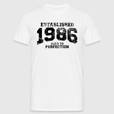 established 1986 - aged to perfection - Männer T-Shirt
