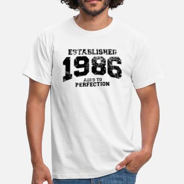 1986 established 1986 - aged to perfection - Männer T-Shirt